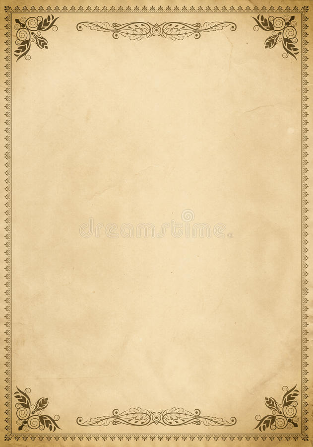 Old Fashioned Menu Template