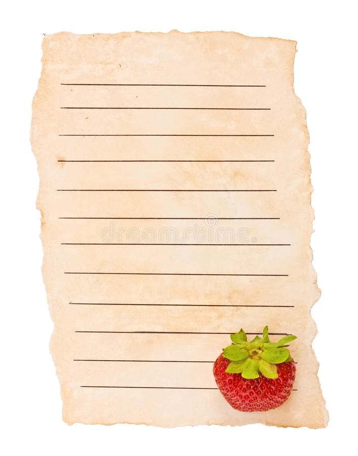 Old Paper And Berry Royalty Free Stock Photography