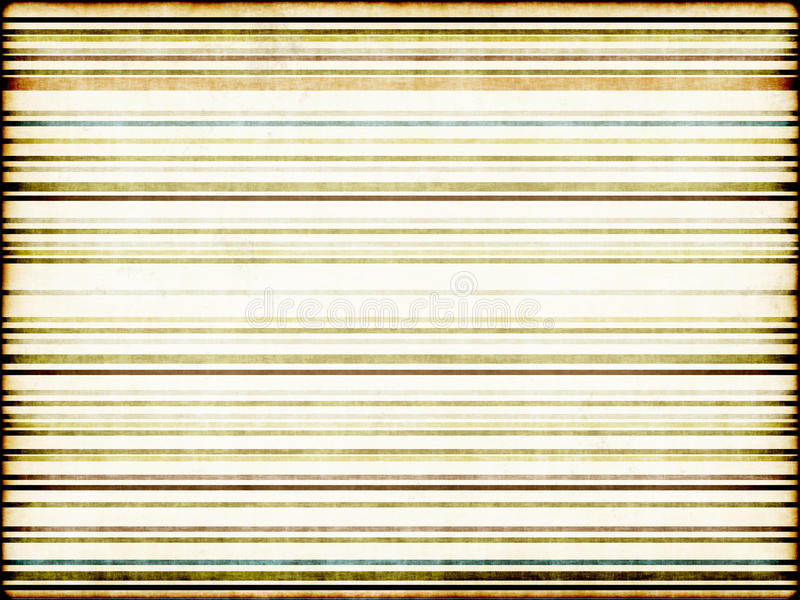Old paper, banner. Design of old paper with lines and pasty, dark and green shades with the effect of old edges. The paper is vintage, retro, old and boho style stock image