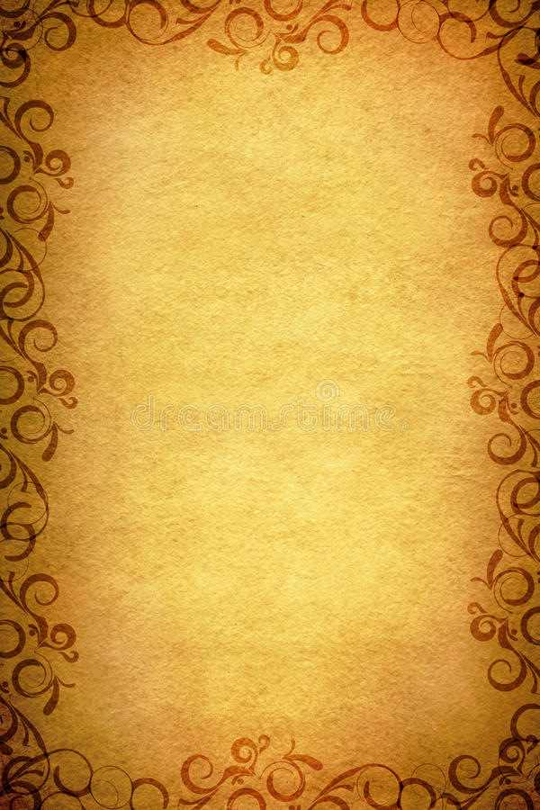 Old Paper Border Design Stock Illustration Illustration