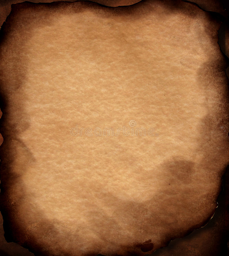 Download Old Paper With Burned Edges Stock Photo - Image: 4548350