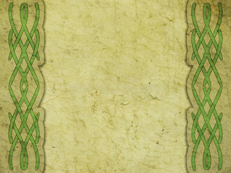 Old paper. With celtic pattern vector illustration