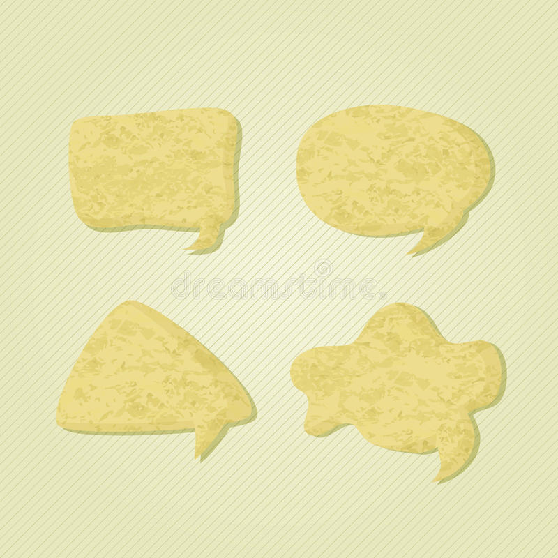 Download Old Paper Chat Speech Bubble Icons Stock Vector - Illustration of shape, communicate: 26023609