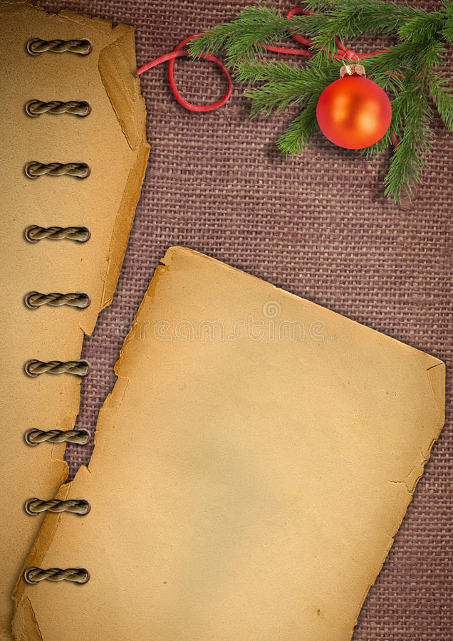 Download Old Paper, Christmas Tree On A Sacking. Royalty Free Stock Photography - Image: 20629157