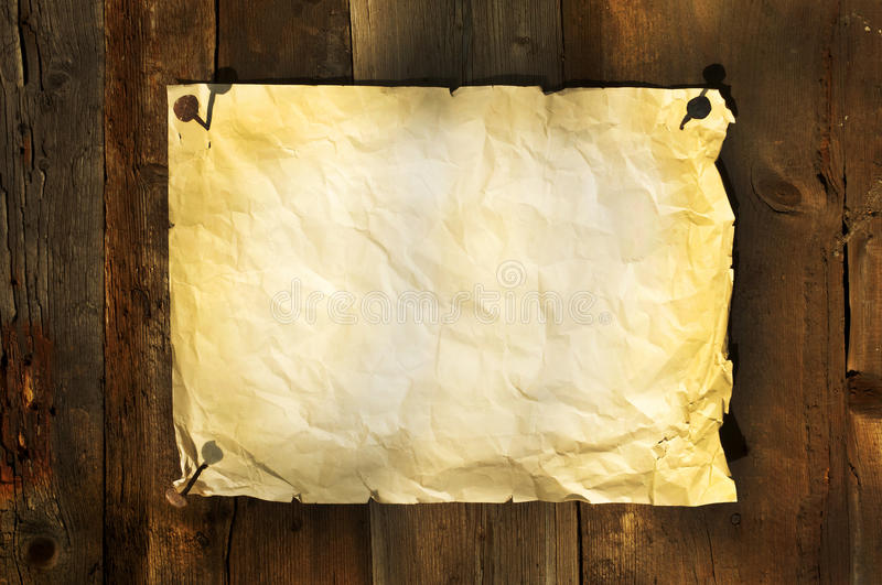Download Old Paper Clipped On Boards Background Stock Image - Image: 23246131