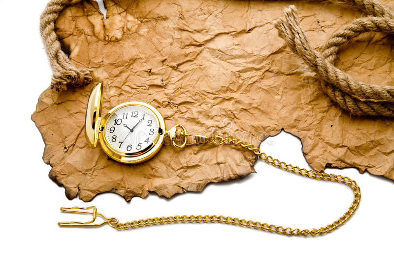Download Old paper and clock stock image. Image of burlap, parchment - 16466161