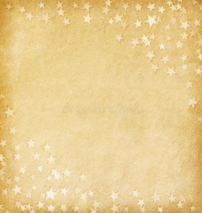 Old paper decorated with stars royalty free stock image
