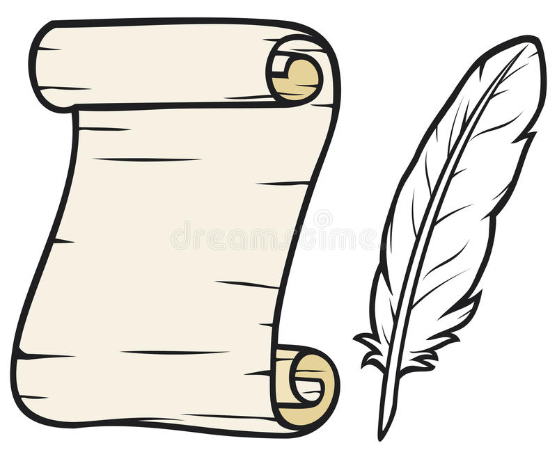 Download Old paper with feather stock image. Image of grunge, manuscript - 24611557
