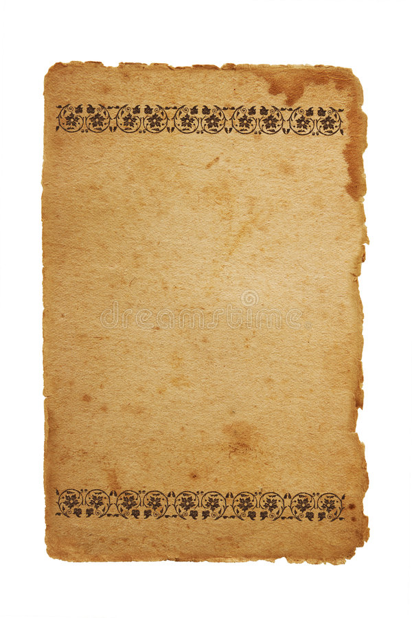 Download Old Paper With Floral Elements Stock Images - Image: 6651104