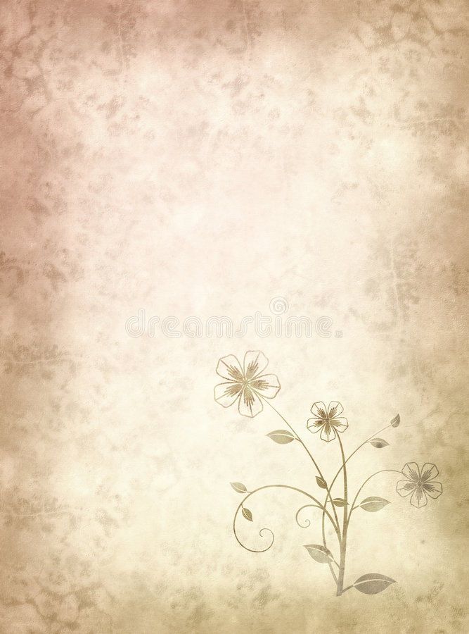 Download Old Paper With Floral Pattern Stock Images - Image: 8027454