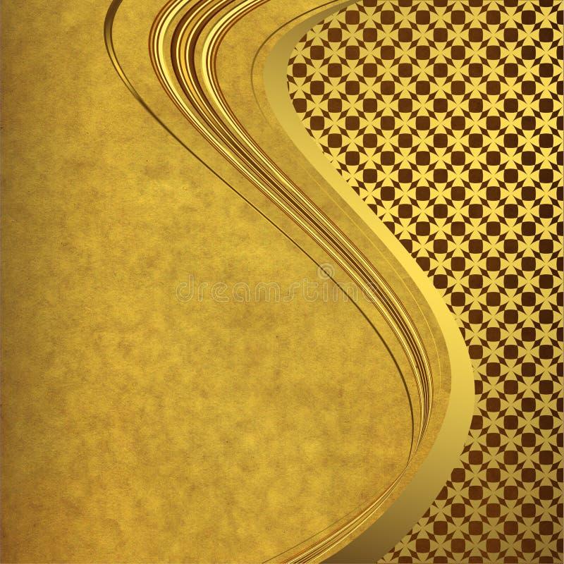 Download Old Paper With Golden Lines Stock Illustration - Illustration: 13241536
