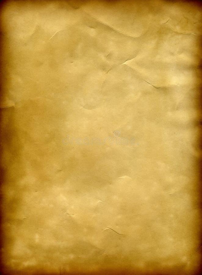 Old paper grunge background with a burned frame royalty free illustration