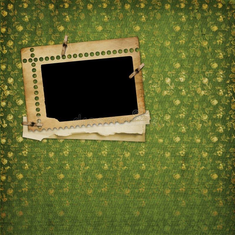 Old paper and grunge frame stock illustration