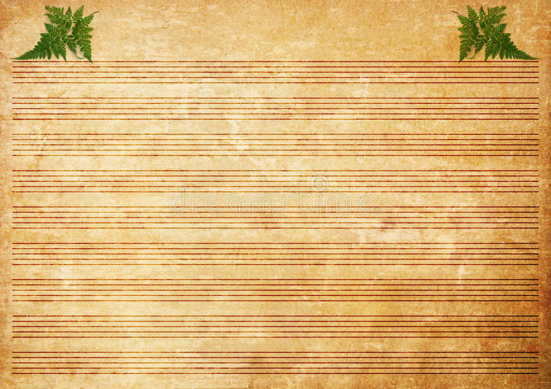 Download Old Paper Grunge Music Sheet Texture Background. Stock Photo - Image: 23074312