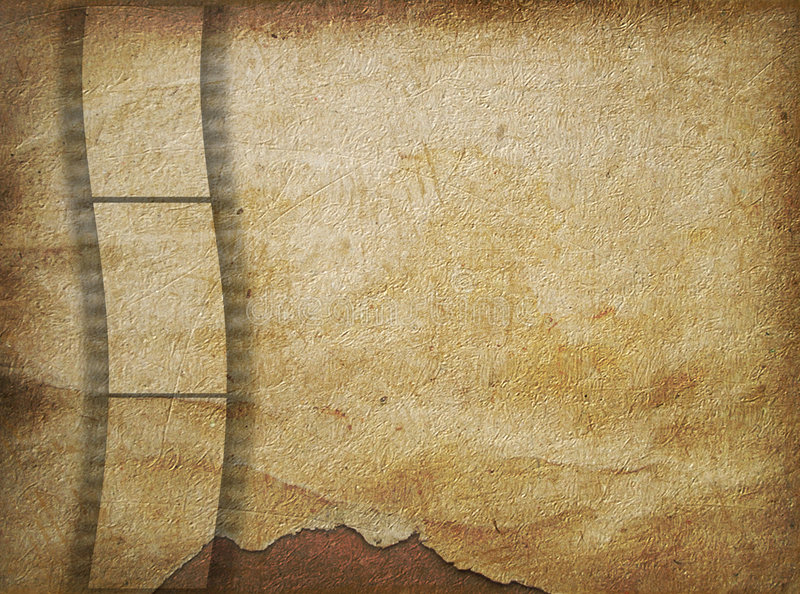 Old Paper In Grunge Style With  Filmstrip Royalty Free Stock Images