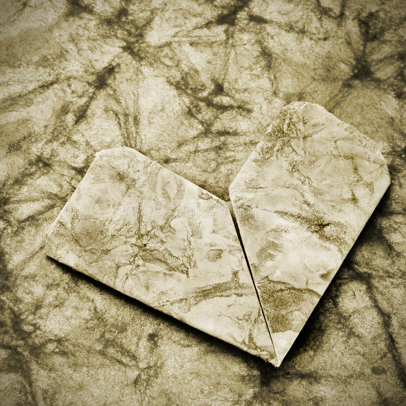 Free Old Paper Heart Royalty Free Stock Photos - 26970528
