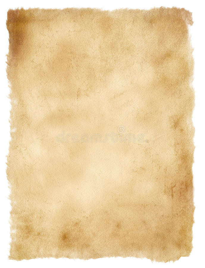 Old paper isolated on white stock photo