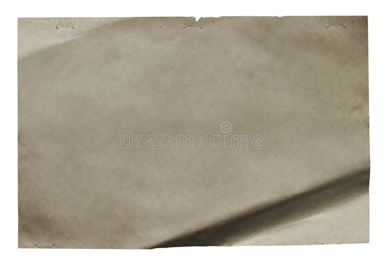 Download Old paper isolatedold stock photo. Image of empty, page - 18252930