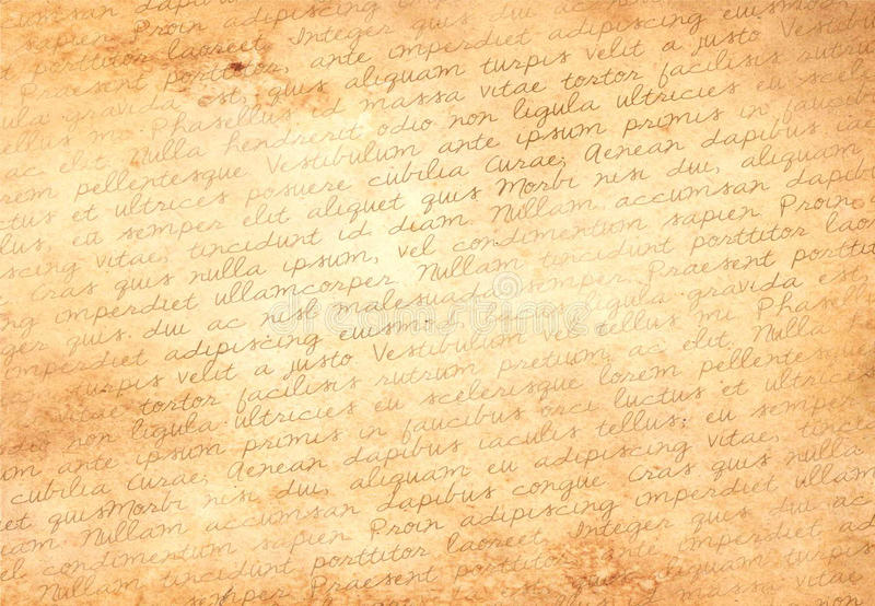 Old paper with latin text stock photography