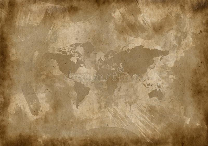 Old Paper With A Map Stock Images