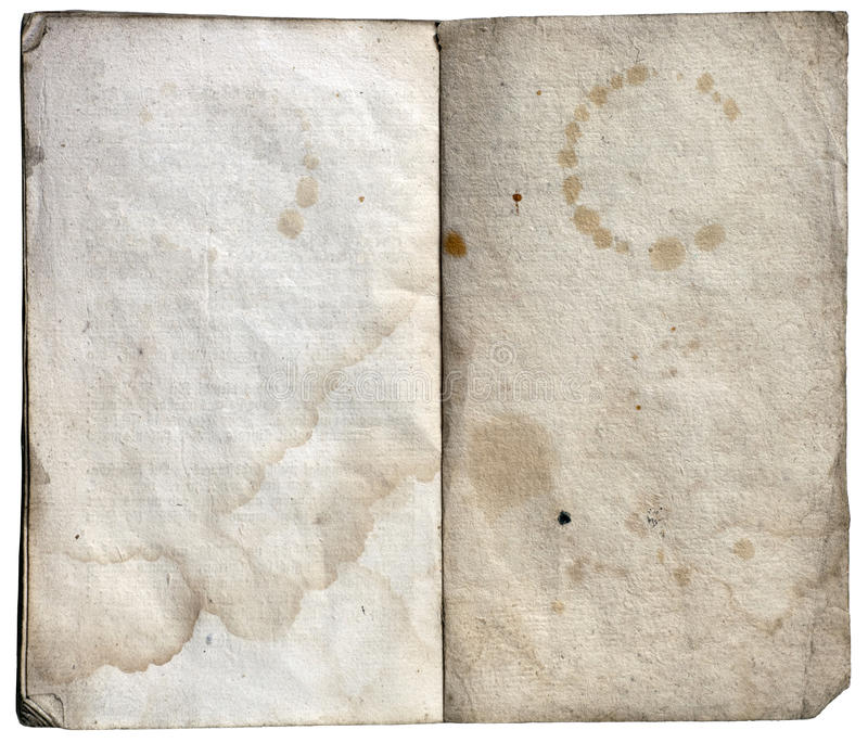 Old paper note book stock photography