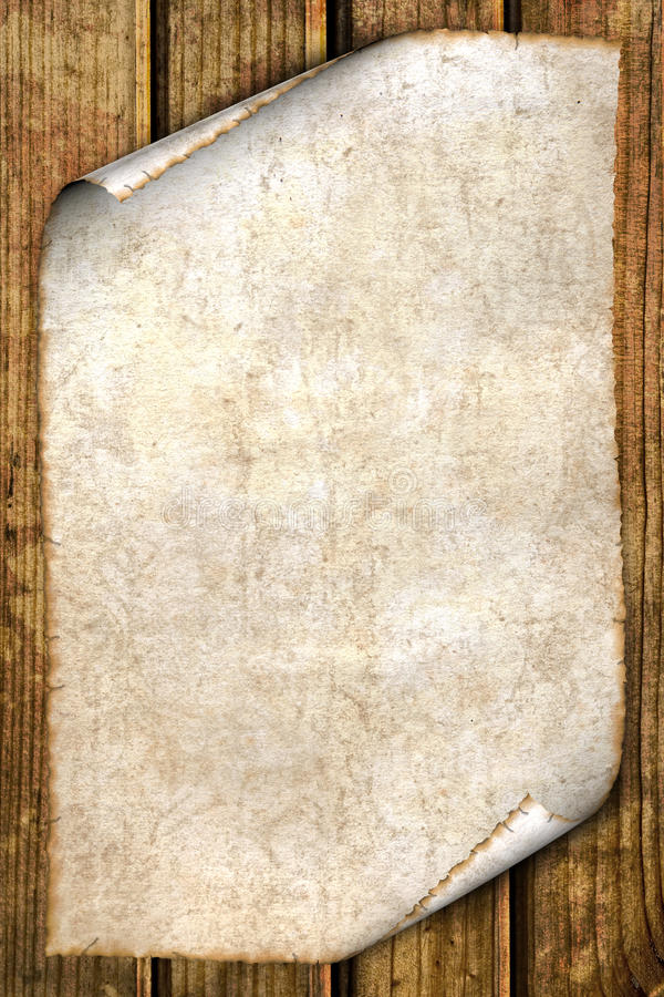 Free Old Paper On Wood Royalty Free Stock Photos - 16530098