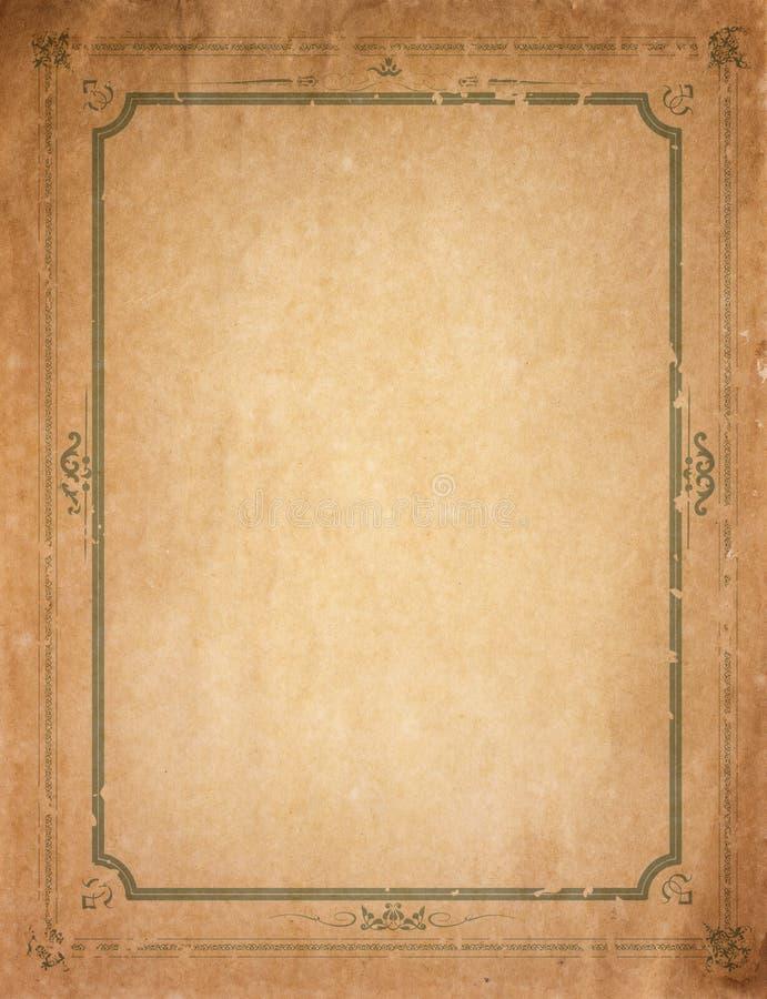 Old Paper With Patterned Vintage Frame Stock Image - Image of ...