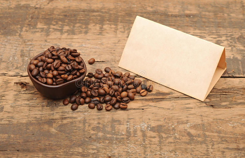 Download Old Paper For Recipes And Coffee Beans Stock Image - Image: 24112635