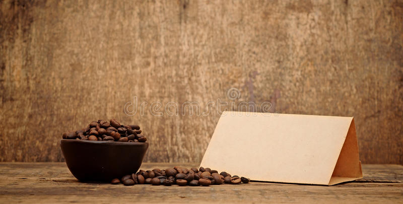 Download Old Paper For Recipes And Coffee Beans Stock Photo - Image: 24112652