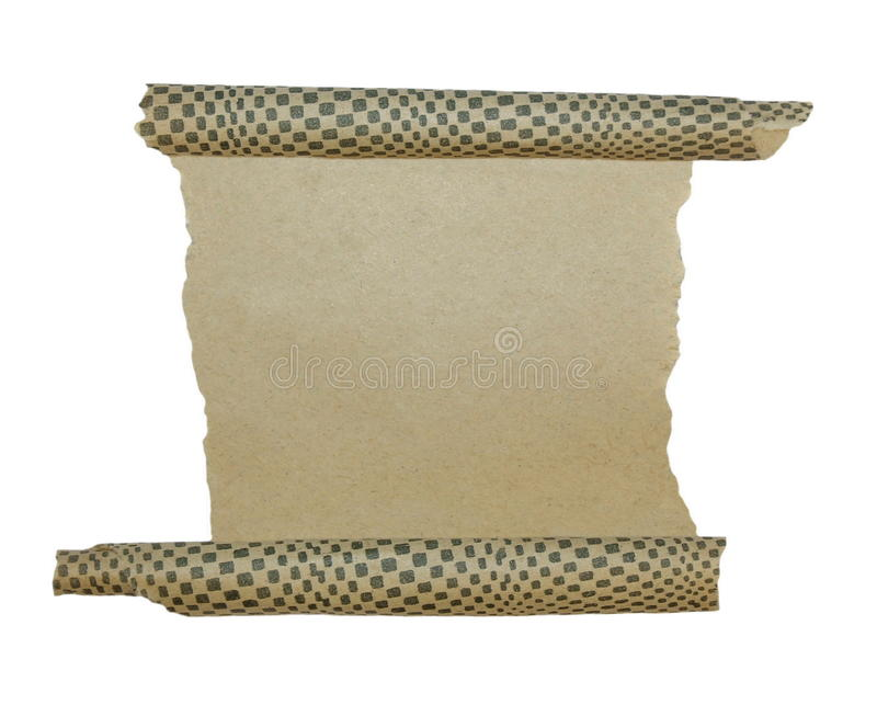 Download Old Paper Roll Scrap Isolated Stock Image - Image: 19133181