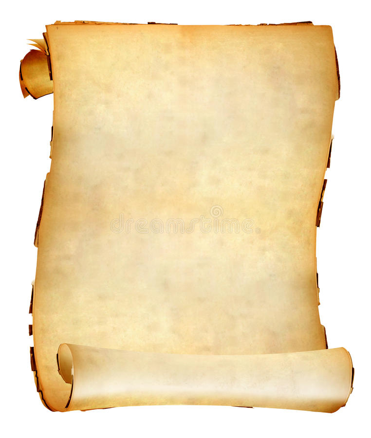 Antique Scrollimgs: Old Paper Scroll Stock Photo. Image Of Blank, History