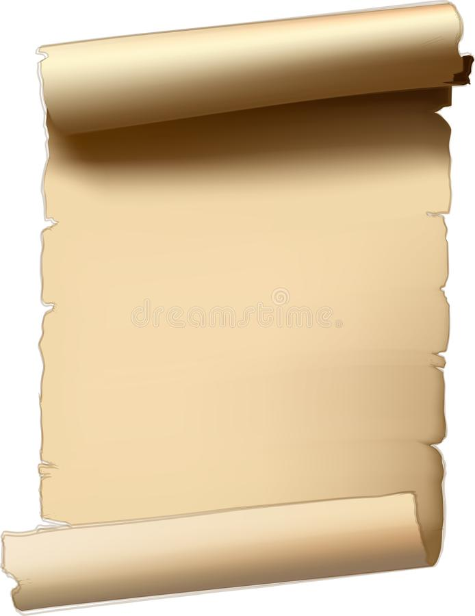 Old paper scroll stock image