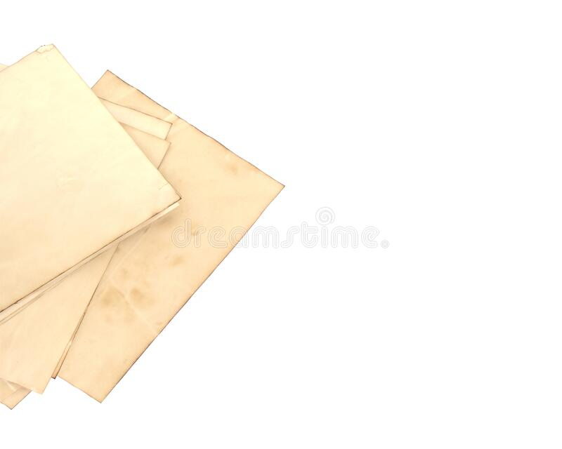Old paper sheet on for background texture royalty free stock photography