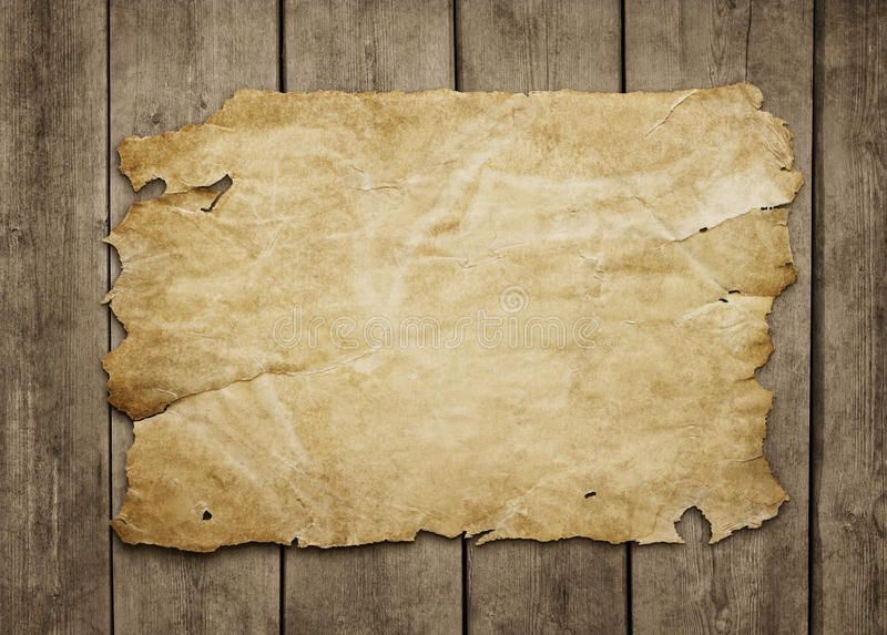 Old paper sheet with copy space stock photography