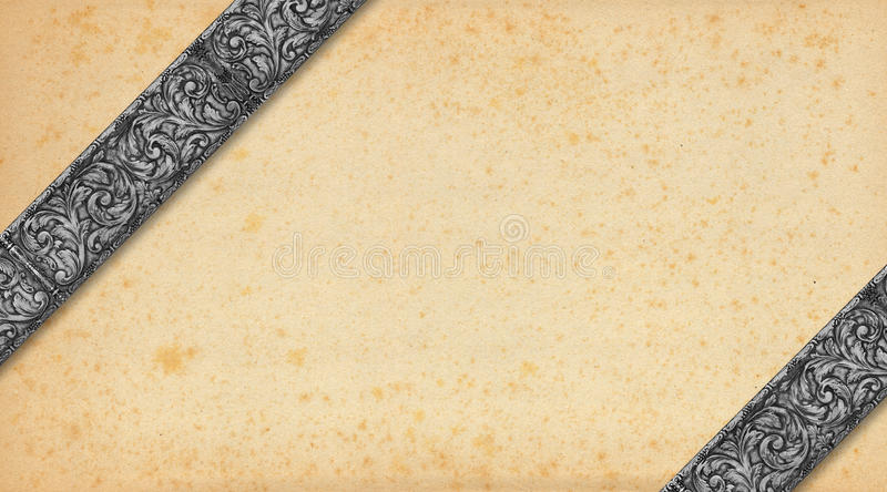 Download Old Paper And Silver Vintage Background Royalty Free Stock Images - Image: 37800039
