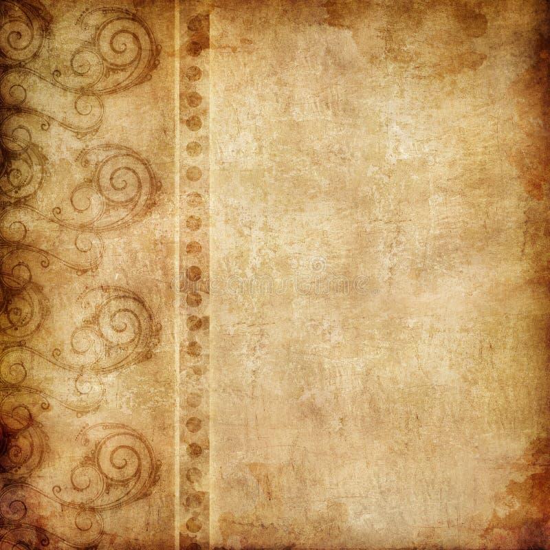 Old_Paper_Swirl_001 (2) .jpg ilustração do vetor