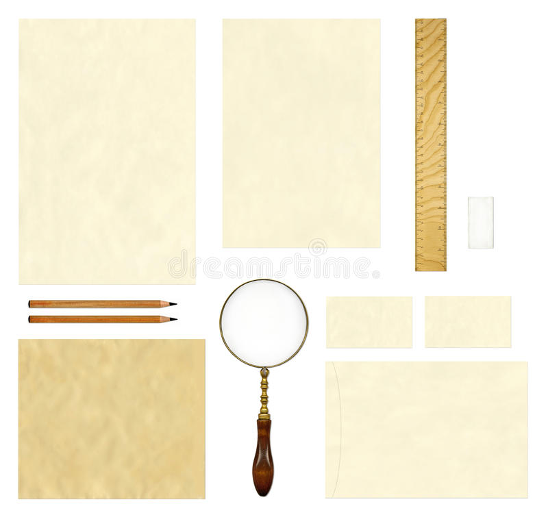 Old paper template mock up stock images