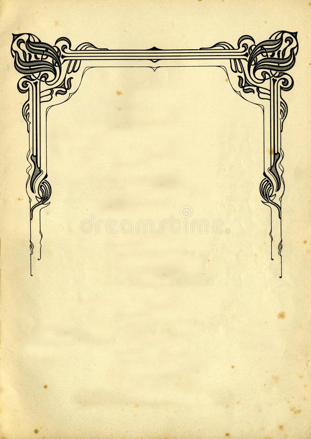Old Paper Texture With Decorative elememts stock photos