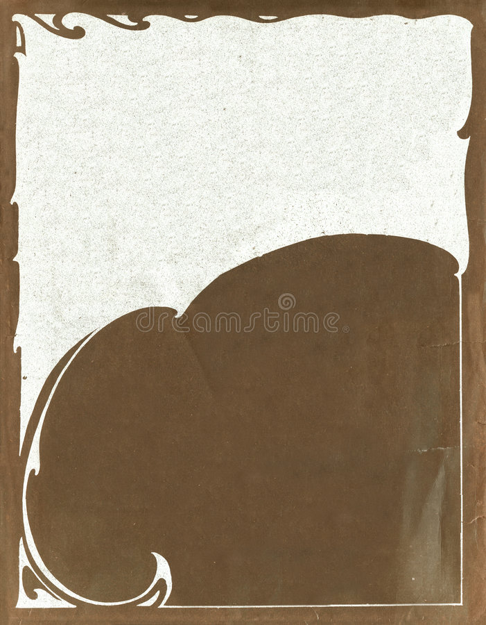 Old Paper Texture With Decorative elememts stock photography