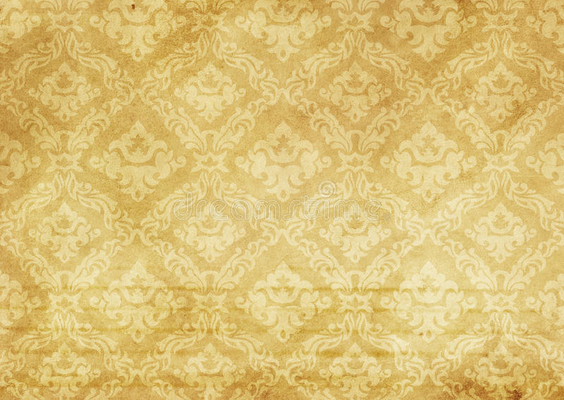 Download Old Paper Texture With Decorative Fashioned Patterns Stock Photo