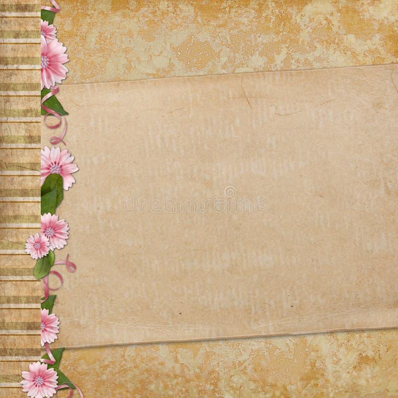 Download Old Paper On Textured Background Stock Illustration - Illustration: 12202722
