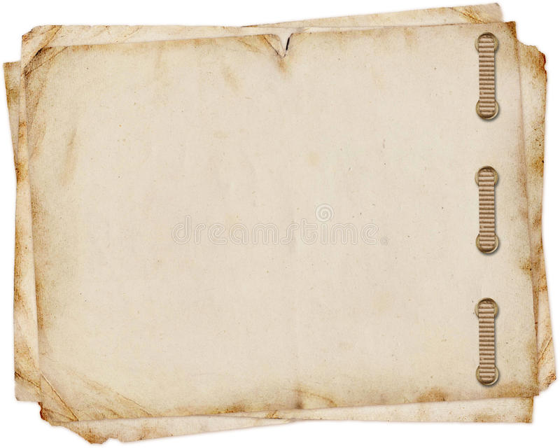 Old paper on white background. In scrap-booking style royalty free illustration