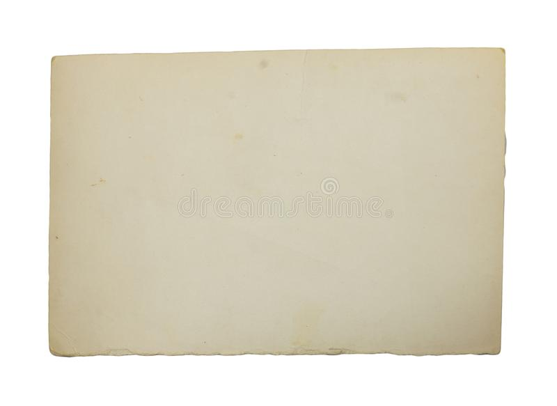 Old paper on white background royalty free stock images