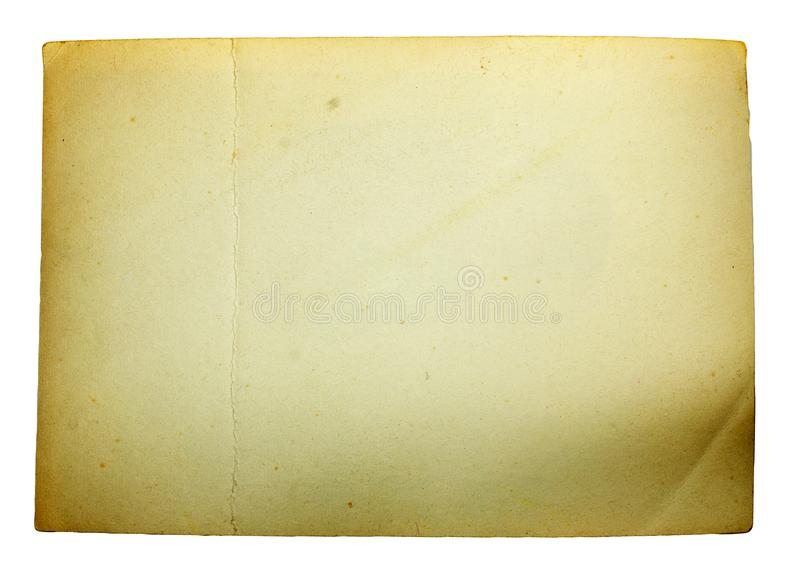 Old paper on white background royalty free stock photography
