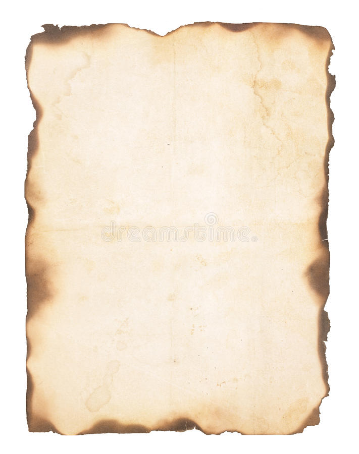 Free Old Paper With Burned Edges Royalty Free Stock Image - 39039076