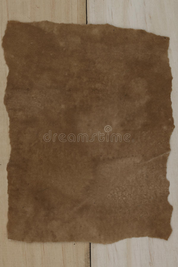 Download Old Paper On Wooden Background Stock Photo - Image: 83708468