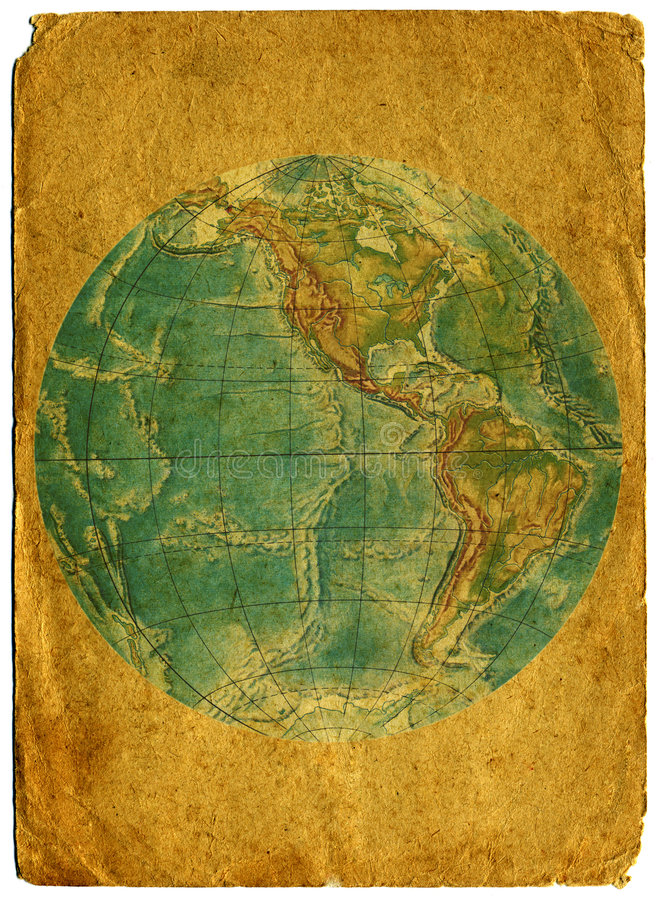 Download Old  Paper  World  Map. Royalty Free Stock Images - Image: 9194499