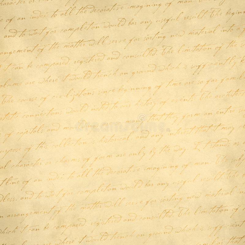 Old Paper with writing royalty free stock photo