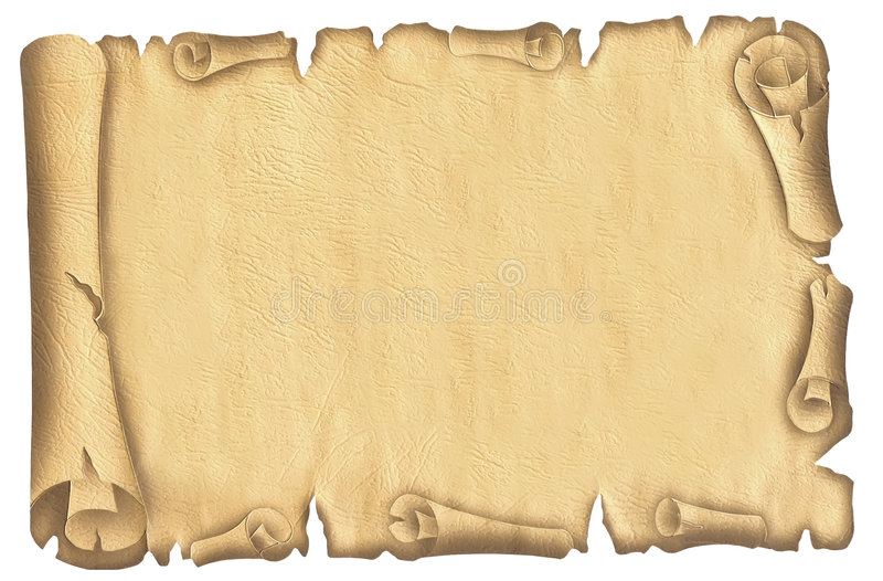 Old papyrus stock photo