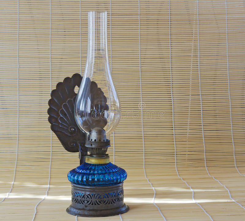 Old paraffin lamp royalty free stock image